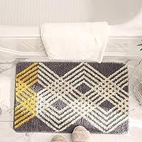 Bathroom Rugs Bath Mat,Soft Microfiber Shower Rug, Machine-Washable,Entryway Doormat for Bathtub Side Carpet Restroom…