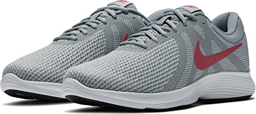 Nike Men's Revolution 4 Running Shoe Wide 4E Wolf Grey/Gym Red/Stealth Size 14 Wide 4E