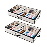 Woffit Under The Bed Shoe Organizer Fits 12 Pairs