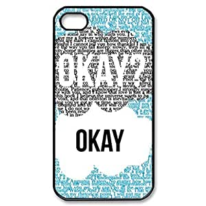 The Fault in Our Stars Okay Pattern Image Case Cover Hard Plastic Case Iphone 4s / Iphone for iphone 4