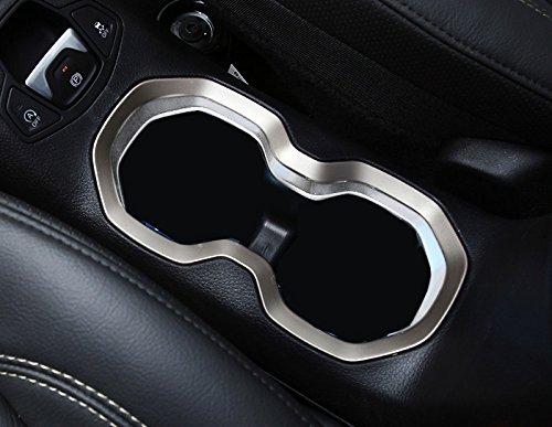 YUZHONGTIAN ABS Chrom/é mat Int/érieur Cadre support pour lunettes Tasse deau Coque Trim pour accessoire Auto Jpre