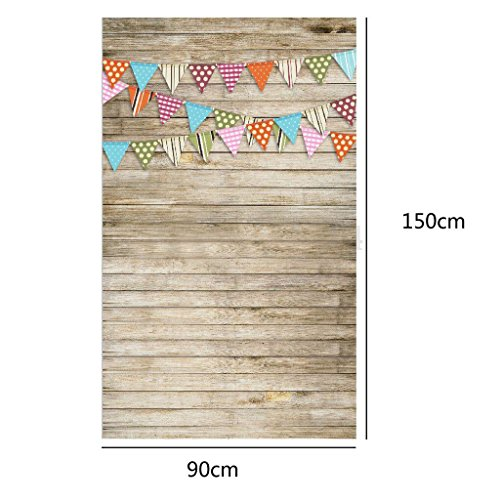 OMG_Shop 3x5FT Photography Backdrops Wooden Wall Floor Photo Background Studio Props NEW-Light Brown