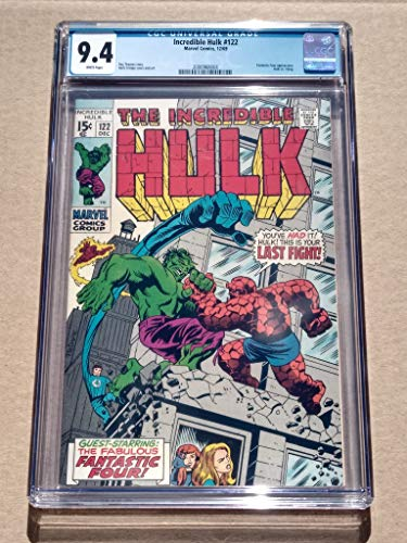 Incredible Hulk #122 High Grade! CGC 9.4 Near Mint Bronze-age Collectible Comic Book! Hulk vs.Thing! White Pages! Roy Thomas story Herb Trimpe Cover and Art!