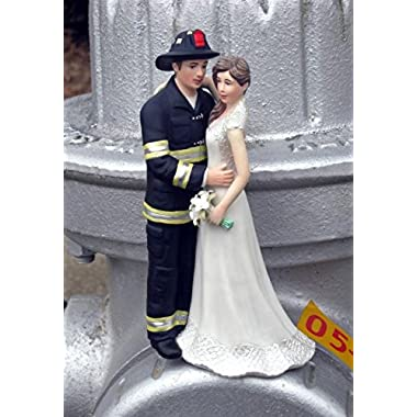 Magical Day B00GGPG37C Firefighter Wedding Cake Topper, Navy