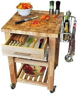 Amazon.com - Chris & Chris Jet1224 Pro Chef Kitchen Cart with ...