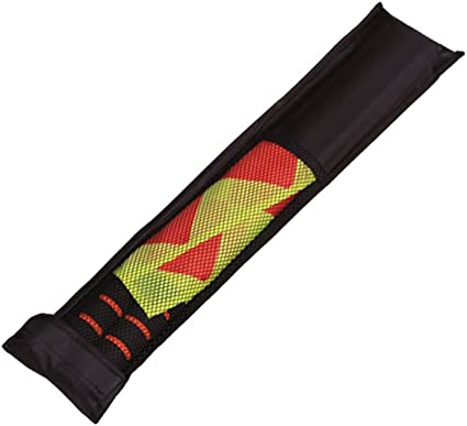 juego de f/útbol de acero inoxidable competici/ón Dilwe 2 banderas de /árbitro mango de esponja banderas con bolsa para deportes