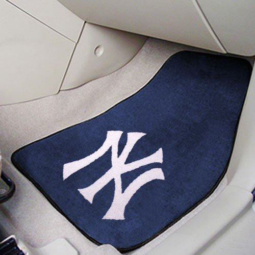 Fan Mats New York Yankees Utility Mat 2-pc Carpet Car Mat Set/17''x27'' by Fanmats (Image #3)