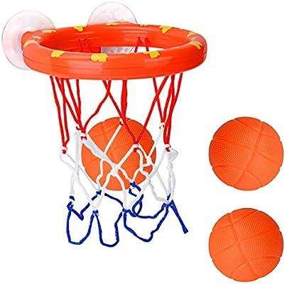 Cyfie Canasta Baloncesto Infantil Bañera,Ganasta de Baloncesto ...