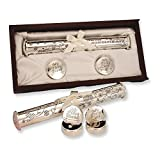 Silver-plated Birth Certificate Holder and Memory Box Set