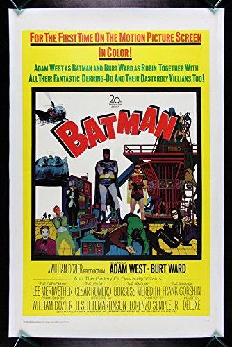 BATMAN * CineMasterpieces 1966 VINTAGE ORIGINAL MOVIE POSTER LINEN BACKED -