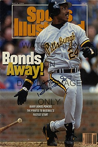 Barry Bonds Sports Illustrated Autograph Replica Poster - Bonds Away!