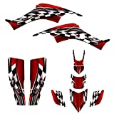 honda 400 ex stickers - 1999 - 2007 Honda TRX 400 EX Graphics Decal Kit By Allmotorgraphics No2500 (Red)