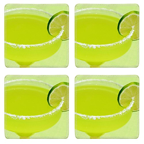 Liili Square Coasters A margarita with a lime