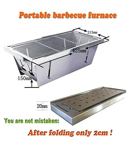 ELLEN Compact Portable Charcoal Grill Reusalbe and Easy Clean (Charcoal Grill)