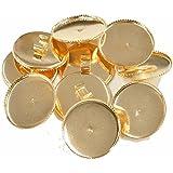 セッティング台座 10個 ゴールド ヘアゴムやブレスレットに (25mm)