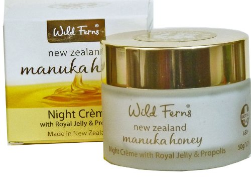 Wild Ferns Gold Night Cream in Glass Jar with Royal Jelly and Propolis (Best Skin Care Products Nz)