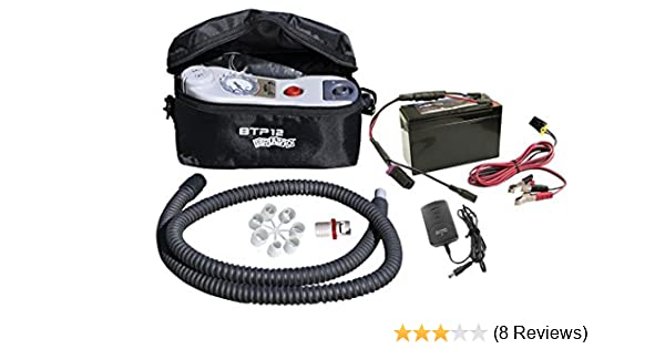 Amazon Com Sea Eagle Bravo Btp Mano Electric Pump Kit With Battery For Inflatables Boating Bilge Pumps Sports Outdoors