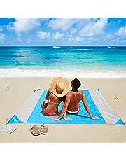 OUSPT Picknickdecke 210 x 200 cm, Stranddecke Wasserdichte, Sandabweisende Campingdecke 4 Befestigung Ecken, Ultraleicht kompakt Wasserdicht und sandabweisend