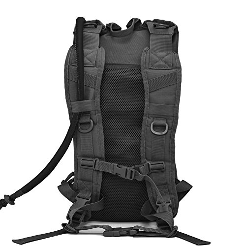 Tactical Hydration Pack Backpack with 2.5L Water Bladder Outdoor Military Army Airsoft Molle Hydration Packs Backpacks for Men Women Hiking Cycling Running Black
