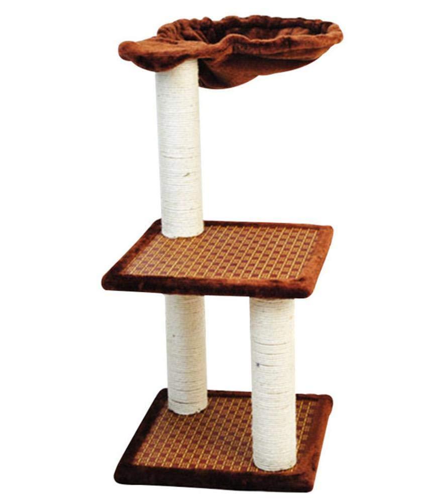 Aoligei Cat Play Towers & Trees Station Rattan Mat Mat pet cat Litter Cat Scratch Board Multilayer cat Cat Scratch column 32  32  62cm