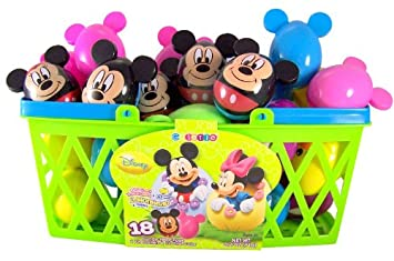 pack of 18 walt disney mickey minnie mouse candy filled eggs for easter basket