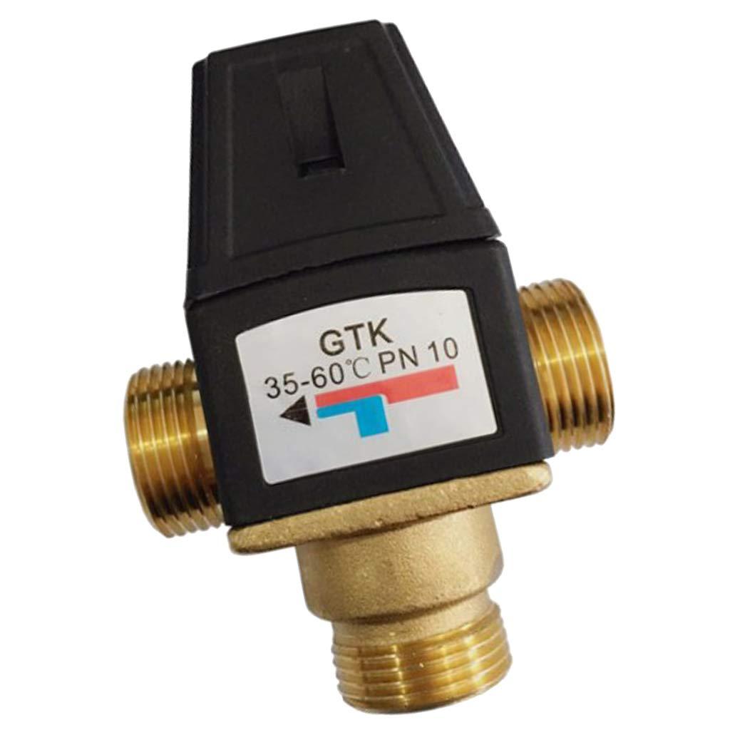 Sharplace Válvula Mezcladora Termostática de 3 vías Válvula de Mezcla de Calentador de Agua Solar - DN20 Masculino