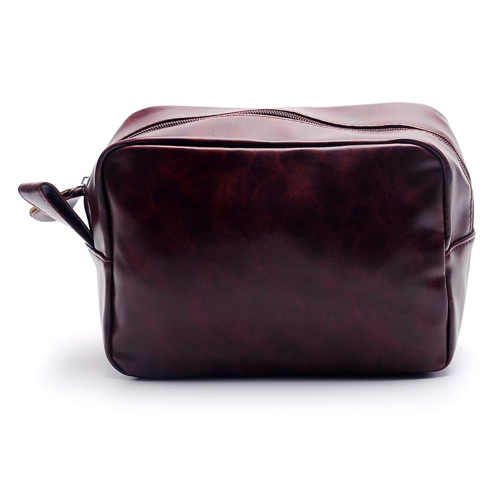 8f1ec2de75 Amazon.com   Best Choise Product mens travel toiletry bag shaving bag faux  leather zipper groomsman bags fathers day gift ready to ship   Beauty