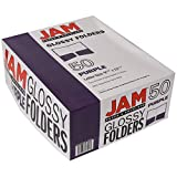 JAM Paper Glossy Two Pocket Presentation Folder - Purple - 50/pack