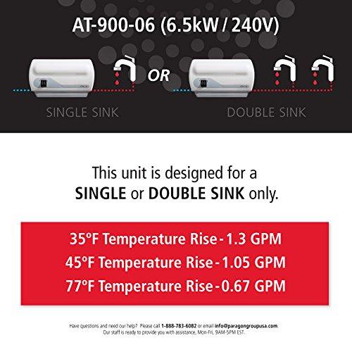atmor AT-900 - 06 - Calentador eléctrico instantáneo calentador de agua, 6,5 kW/240 V: Amazon.es: Bricolaje y herramientas