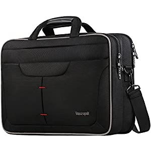 Laptop Briefcase Bag, TSA Computer Messenger bag, Water Rasistant Durable Office Laptop Bag with checked Point Friendly Design, Nylon Business Shoulder Notebook Case For Men Women -15.6 inch,Black