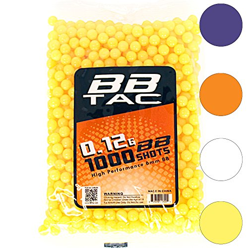 BBTac 1000 Bag .12g 6mm BBs for Airsoft -