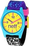 Neff Men's NF0201-multi spreckle Custom Designed Neff and PU Strap multi spreckle Watch, Watch Central