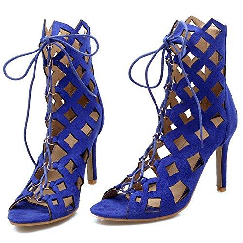 Peep Escarpins Blue Toe TAOFFEN 66 Femmes 8xqH77
