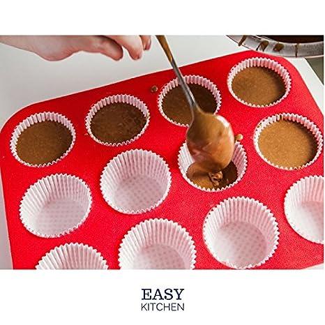 Fácil para horno Mini bandeja para magdalenas - antiadherente 12 taza - /fácil de limpiar: Amazon.es: Hogar