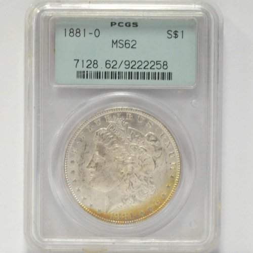 1881 O Morgan Dollar PCGS MS-62
