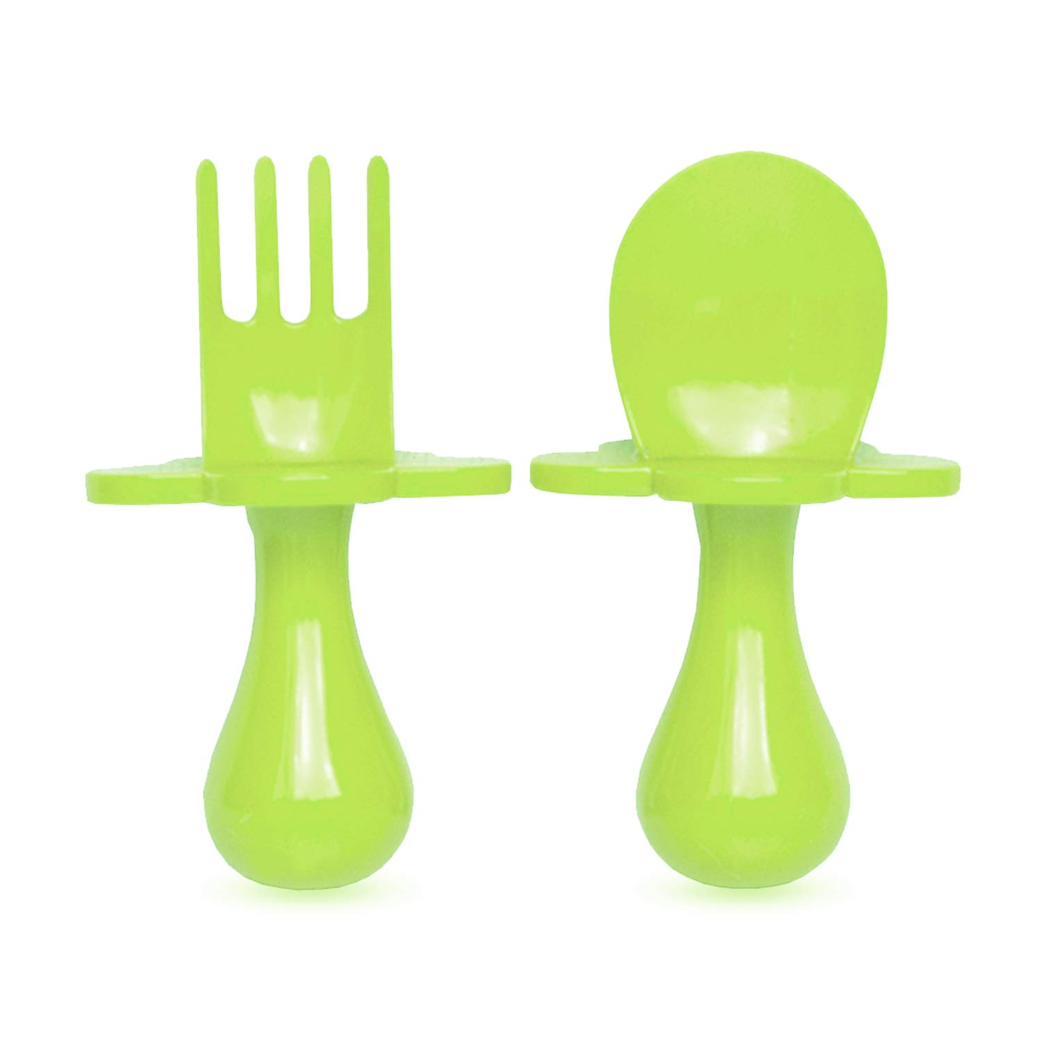 Grabease First Self Feeding Utensil Set Of Spoon And Fork. Mint
