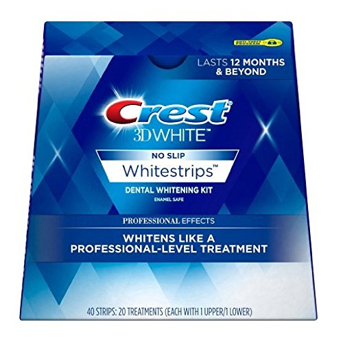 Crest 3D No Slip Whitestrips Professional Effects Teeth Whitening Kit 20 ea Pack Of 2