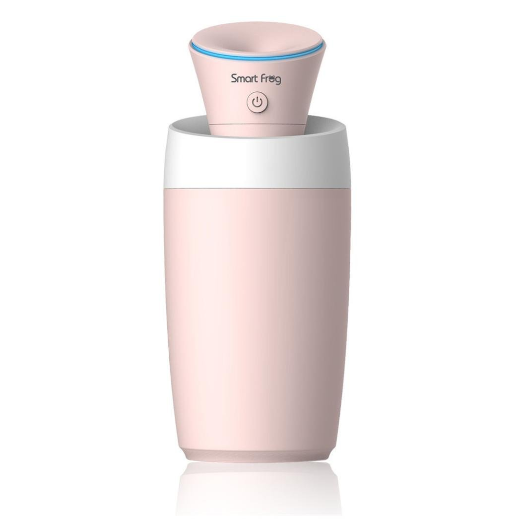 Blueseao Mini Size USB Portable Humidifier, Beauty Micro-key Control Car Office Outdoor Homeuse for Gift (Pink)