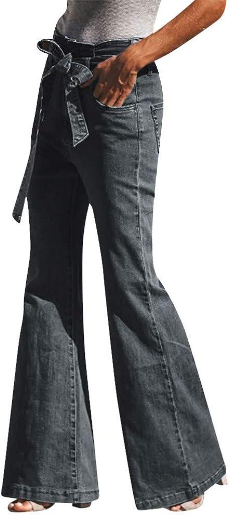 Mujer Risthy Mujer Pantalones Acampanados Vaqueros Cintura Alta Jeans De Mujer Slim Fit Flaco Pantalones Largos Lapiz Vaqueros Con Lazo Elasticos Stretch Jeans De Vestir Invierno Ropa Leitingcuisine Com