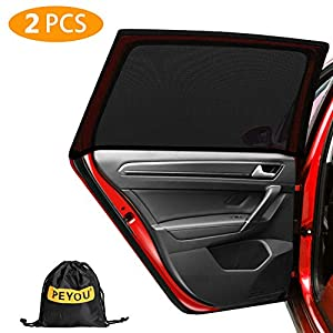 PEYOU Universal Rear Side Baby Car Window Sun Shades,【2021 Upgrade Version】 Breathable Mesh Car Sun Shade-Fit for 95…