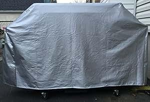 "Char-Broil 463270615Gas Grill ajuste personalizado al aire libre Acolchado Azul/Gris Resistente Al Agua Cover–47""W x 23"" D x 47""H"