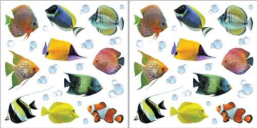 Cheap  Crearreda CR-54253 Fishes Wall Decals