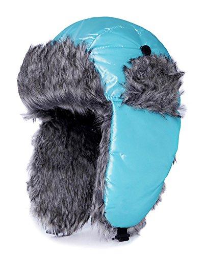 Fur Trapper Hat Winter Ear Flap Hat Waterproof Thicken Warm Snow Cap Winter Hat Men Women Light - Pink Sunglasses Mink