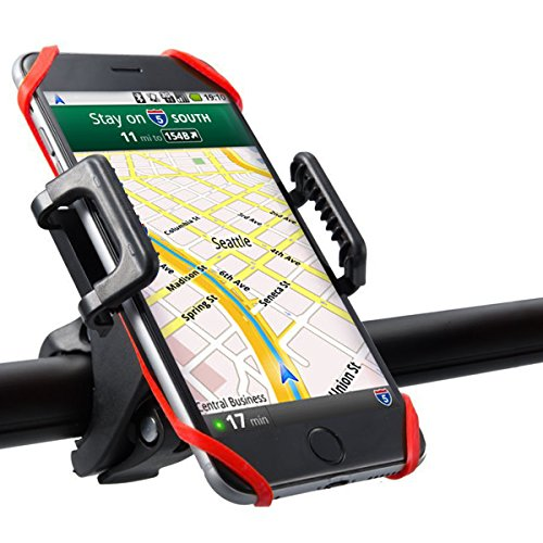 Ubegood Fahrrad Handyhalterung [360-Grad-Drehung] Handyhalter Fahrrad Verstellbar Motorradhalter Halterung für iPhone und smartphone