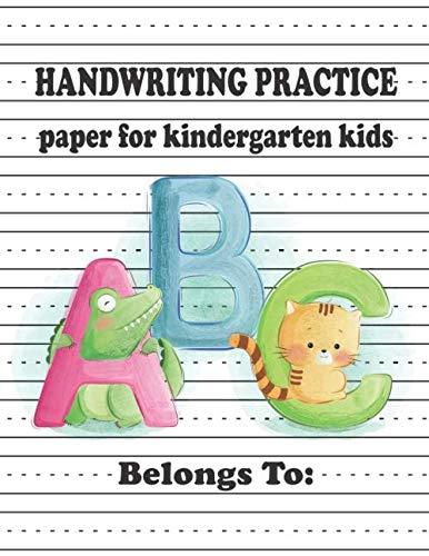 Halloween Writing Paper Third Grade (Kindergarten Hand Writing Practice Paper for ABC Kids: Numbers & Letters Writing Paper for kids with Dotted)