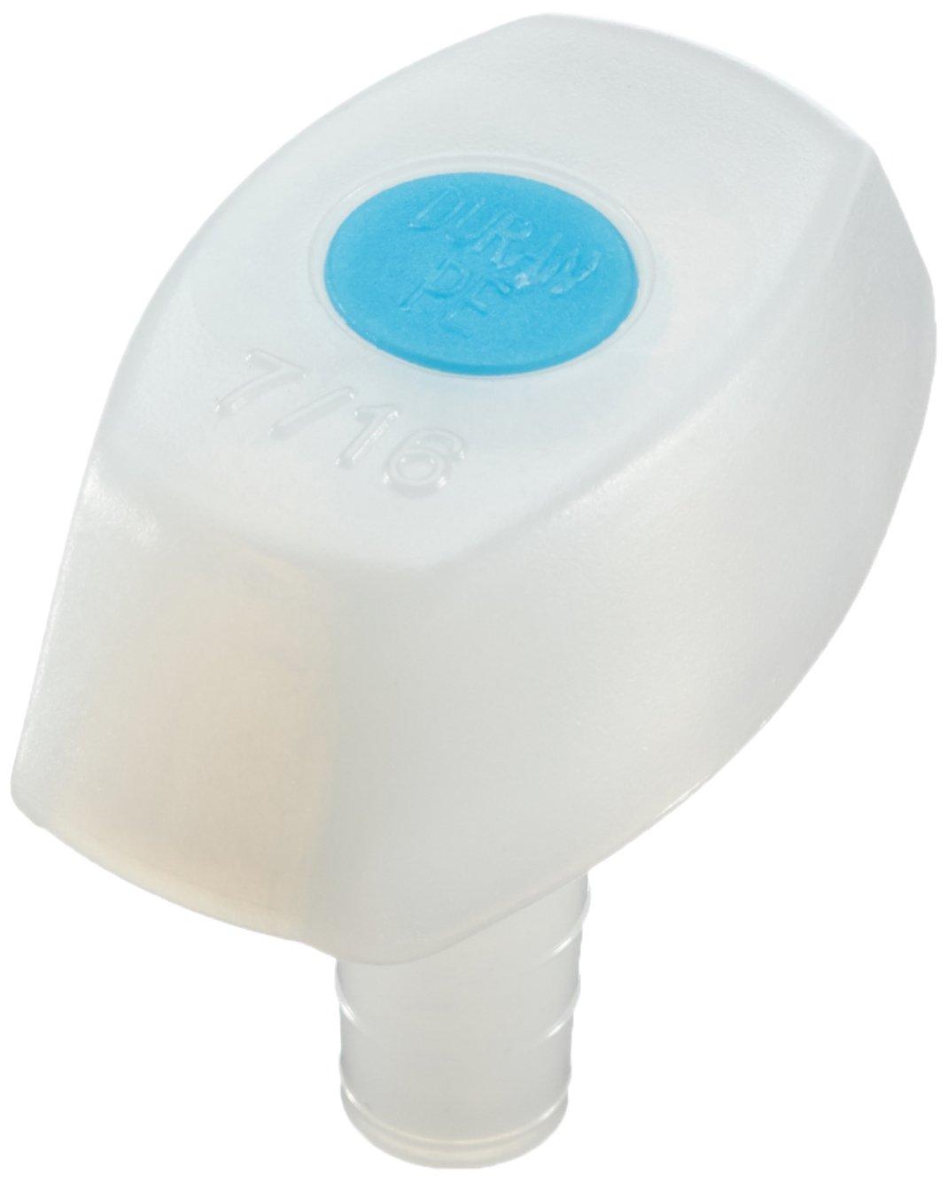 DURAN 292050201 Kunststoff-Stopfen aus Polyethylen, mit Einsatz, NS 7/16, Blau (10-er Pack) DURAN Group GmbH