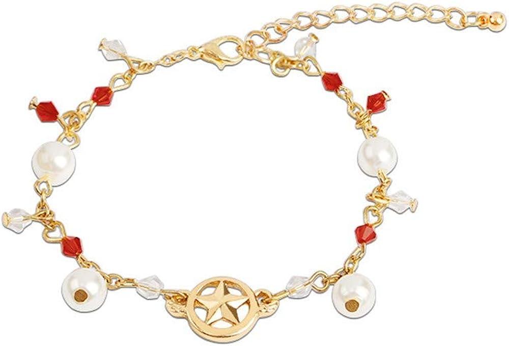 Pulseras Pulsera de perlas nuevo anime en torno a la variedad de pequeños brazaletes de aleación de perlas de zafiro color cereza lote directo de fábrica