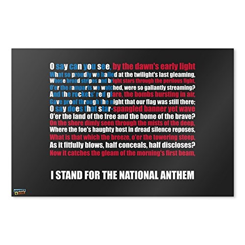I Stand USA National Anthem Star-Spangled Banner American Fl