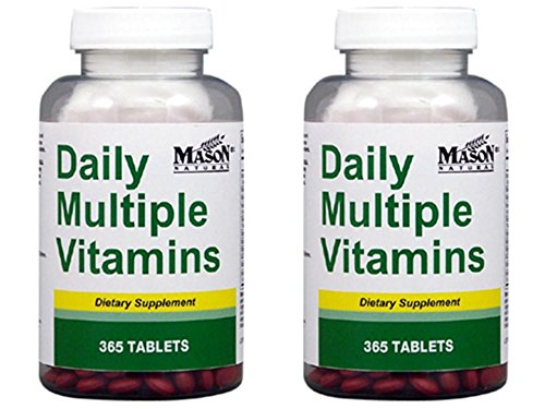Essential Multivitamin - Daily Multiple Vitamins Compare To One A Day Essentials Multivitamin Multimineral Supplement 365 Tablets per Bottle Pack of 2 Total 730 Tablets