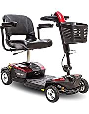 Pride Mobility Go-Go Lx with Cts 4-wheel Scooter, Red/Blue, 87.4 lb